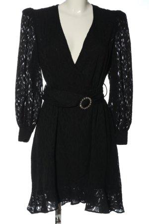 MNG Wickelkleid schwarz Elegant