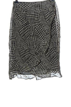 MNG Wraparound Skirt black-light grey allover print casual look