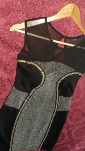 BODY FLIRT Sukienka koktajlowa czarny-srebrny