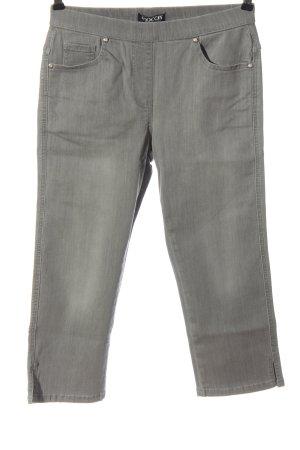 mocca Jeans a 3/4 grigio chiaro stile casual