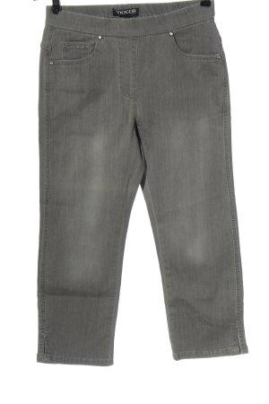 Mocca by Jutta Leibfried Jeans 3/4 gris clair style décontracté