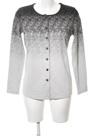 Mocca Italy Strickjacke weiß-schwarz Farbverlauf Casual-Look