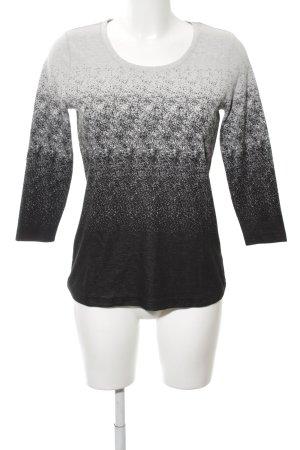 Mocca Italy Strickshirt hellgrau-schwarz Farbverlauf Casual-Look