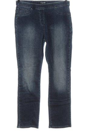 mocca Jeans met rechte pijpen blauw casual uitstraling