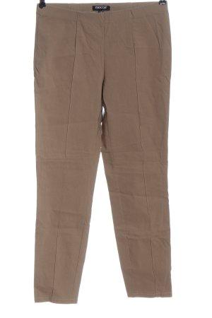 mocca Spodnie ze stretchu w kolorze białej wełny W stylu casual