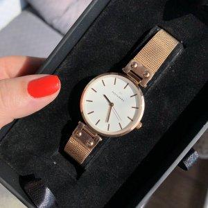 Mockberg Reloj con pulsera metálica blanco