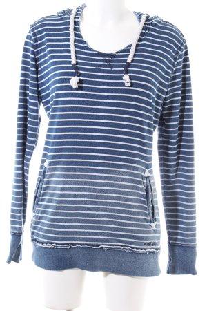 MOD Kapuzensweatshirt blau-weiß Streifenmuster Casual-Look