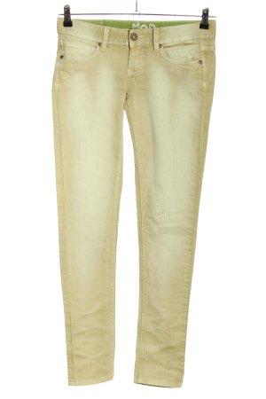 MOD Jeans cigarette crème style décontracté