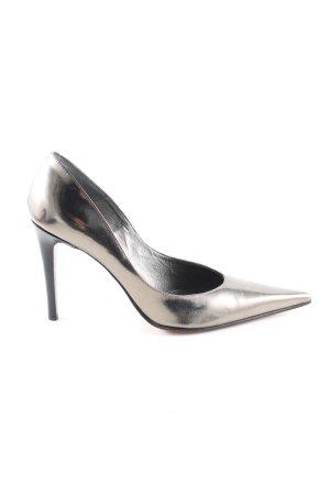 Moda Di Fausto Spitz-Pumps silberfarben Elegant