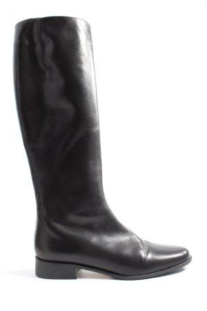 Moda Di Fausto Wide Calf Boots black business style
