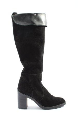 moda in pelle Botas estilo militar negro look casual