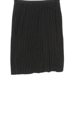 Moda International Pencil Skirt black-white striped pattern casual look