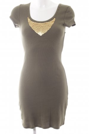 Moda International Jerseykleid olivgrün-grüngrau Casual-Look