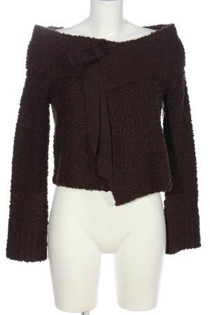 Moda International Knitted Cardigan brown casual look