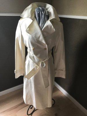 Moda International Trench Coat white mixture fibre