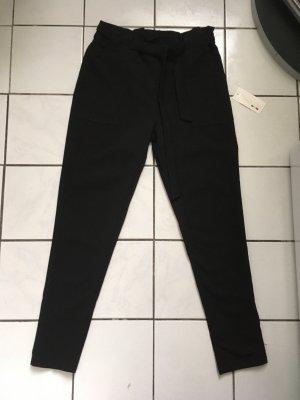 Made in Italy Pantalon taille haute noir