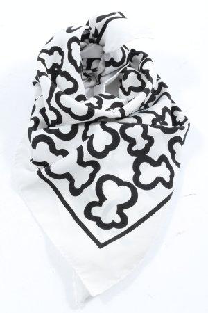 Moda Italiana Foulard en soie blanc-noir motif abstrait style décontracté