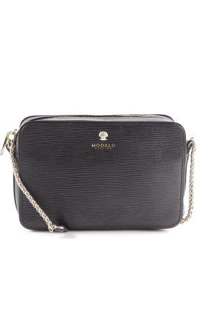 Modalu london Handtasche schwarz-goldfarben Business-Look
