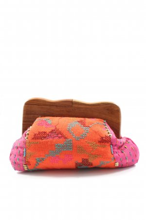 Modapelle Bolso de mano naranja claro-rosa estilo extravagante