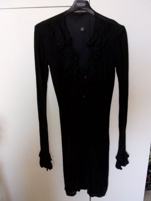 Flounce Dress black cotton