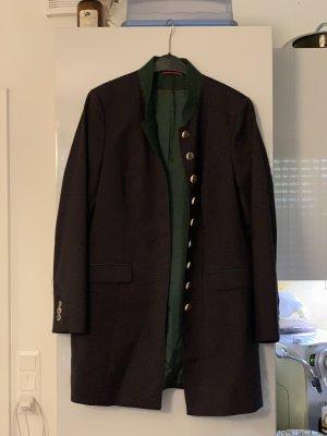 Długa kurtka ciemnoszary-czarny