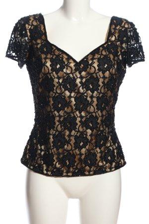 Mode Exclusive Mehra Spitzenbluse schwarz Casual-Look