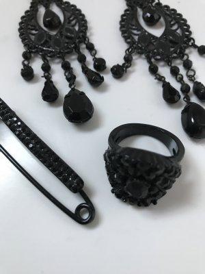 Bijou Brigitte Bungeloorbellen zwart