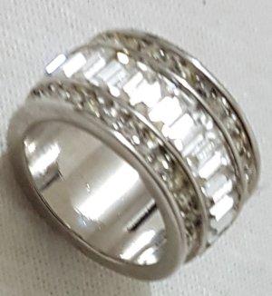 Vintage Anello d'argento bianco-argento