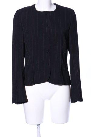 modee Kurzjacke schwarz-lila Streifenmuster Casual-Look