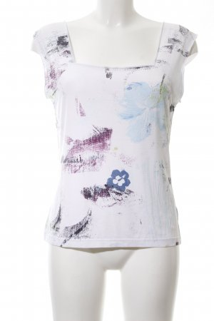 modee Strickshirt weiß abstraktes Muster Casual-Look