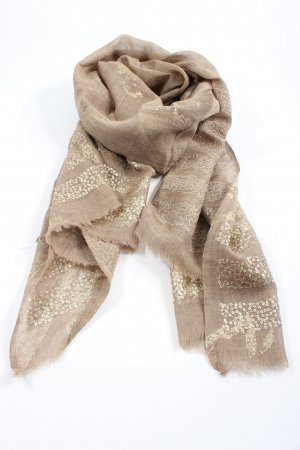 modekontor Shoulder Scarf natural white abstract pattern wet-look