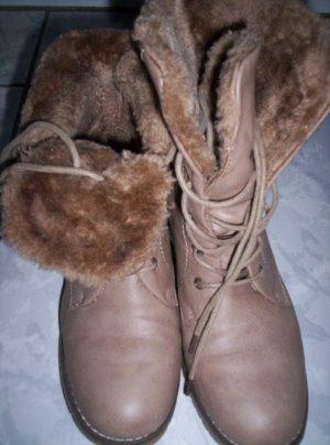 ModeQueen - Boots, Stiefeletten, beige, neu, Gr. 37