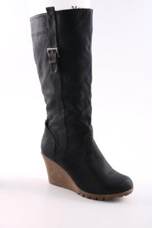 Modequeen Jackboots black casual look
