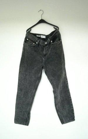 Mango Hoge taille jeans zwart Katoen
