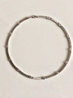 Modern Art Collier 925 Silber Kette Luxus Vintage Bergkristall Brillant schliff