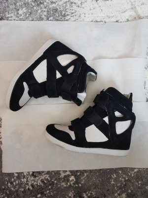 Modern Vice Heel Sneakers white-black leather