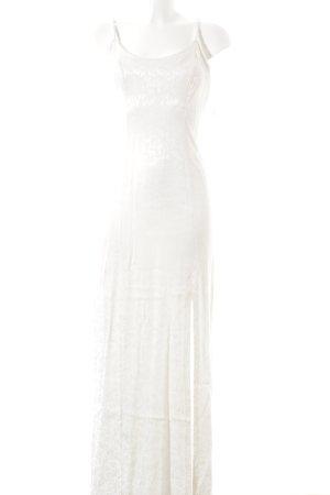 Modern Woman Abendkleid wollweiß florales Muster Elegant