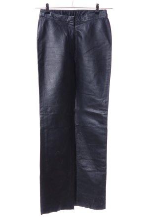Modern Woman Lederhose schwarz Casual-Look