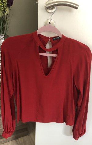 Moderne Bershka Bluse in rot
