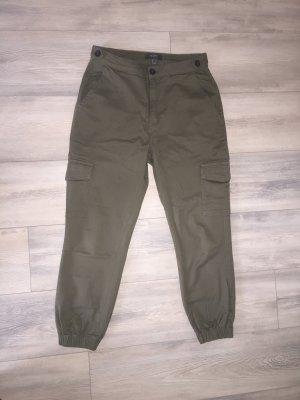 Primark Pantalone cargo cachi-grigio-verde
