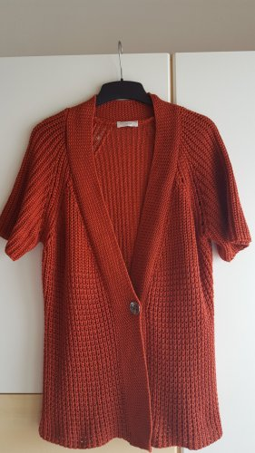 Bonita Short Sleeve Knitted Jacket carmine