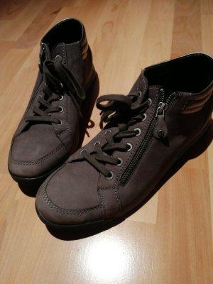 ara Sznurowane buty taupe-szaro-brązowy