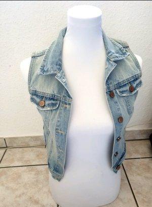H&M Jeansowa kamizelka niebieski