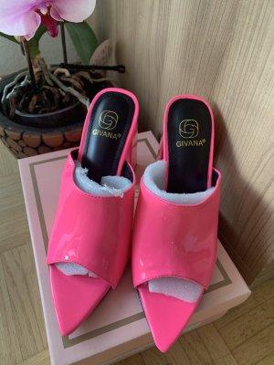 Givana Zomerschoenen met hak roze-neonroos