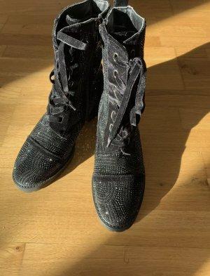 Alma en Pena Zipper Booties black leather