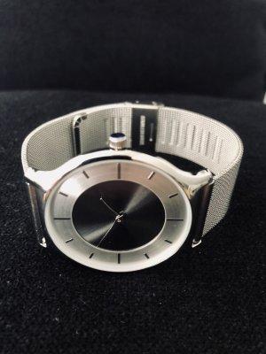 Montana Montre avec bracelet métallique argenté-noir métal