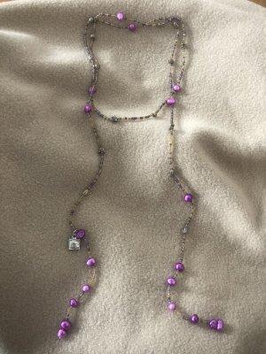 Moderne Perlen: Traditioneller japanischer Schmuck Lariat Bettelkette Halskette