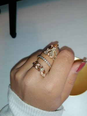 Statement Ring gold-colored-cognac-coloured