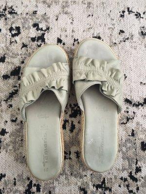 Moderne Sandalen in mint