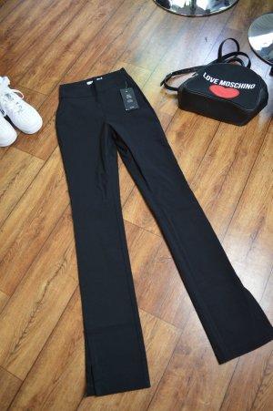 Moderne Slim-Fit Super Stretch Hose mit Schlitz Schwarz 36 Nakd